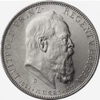 Kaiserreich-5-Mark-1911-Prinzregent-Luitpold-Bayern-J.50-Sonderpreis.