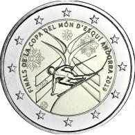 Ski Weltmeisterschaft 2 Euro Münze aus Andorra 2019