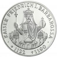 Deutschland 10 DM Silber 1990 Stgl. Kaiser Friedrich I. Barbarossa