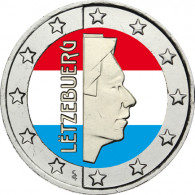 Luxemburg 2 Euro bfr. Kursmünze in Farbe