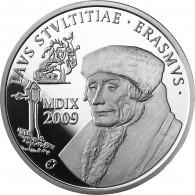 Belgien 10 Euro Silber 2009 PP Kulturelles Erbe: Erasmus von Rotterdam