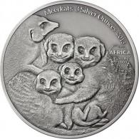 3 oz Silber Erdmännchen