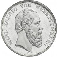 J. 173  Württemberg 5 Mark 1874-1888 Karl