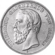 J. 29  Baden    5 Mark 1891 - 1902 Friedrich I