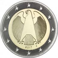 BRD 2 Euro Münze 2017 Bundesadler