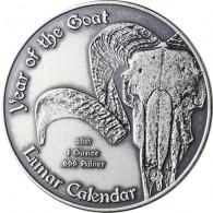 Lunar Serie Kamerun 1000 Francs 2015 Jahr der Ziege