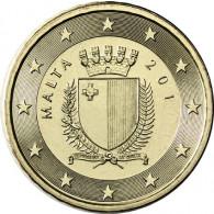 Malta 10 Cent 2011 bfr. Staatswappen Malta