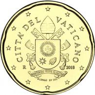 20 Euro Cent  Münzen aus dem Vatikan mit dem Papstsiegel  von Franziskus 2018