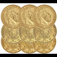 Preussen-20-Goldmark-Wilhelm-I-Mzz-ABC-1872-1873