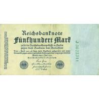 Banknote 500 Mark Reichsmark nach Rosenberg