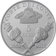 Italien 5 Euro 2012 PP 150 Jahre Rechnunghof