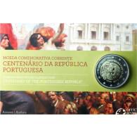 Portugal 2 Euro Sammlermünze  2010 PP 100 Jahre Republik Portugal