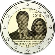 Luxemburg 2 Euro 2015 bfr. 15 . Jahrestag Thronbesteigung von Großherzog Henri