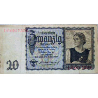 Banknote 20 Reichsmark Junge Österreicherin 16.Juni 1932 Kassenfrisch