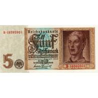 Banknote - 5 Reichsmark 1942 Jünglingskopf