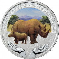 Tuvalu 1 Dollar 2012 PP Wildlife in Need - Schwarzes Nashorn
