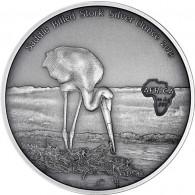 Silbermünzen Antique Finish Kongo Sattelstorch Africa Serie bestellen