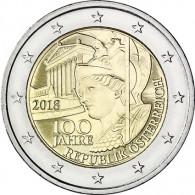 Münze Österreich 2018 100 Jahre Republik