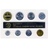 DDR Kurssatz 1 Pfennig bis 5 Mark 1988  Brandenburger Tor