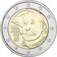 2 Euro Gedenkmünze 150. Geburtstag Raúl Brandão Portugal 2017