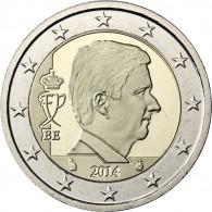Belgien 2 Euro 2014 Stempelglanz König Philippe in Münzkapsel