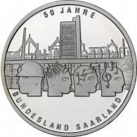 Gedenkmünze 10 Euro 2007 PP - Saarland Sterlingsilber