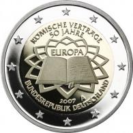 2 Euro Gedenkmünzen Gemeinschaftsausgabe Römische Verträge Polierte Platte Deutschland