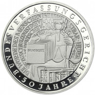 Deutschland 10 DM Silber 2001 PP Bundesverfassungsgericht komplett Mzz. A bis J