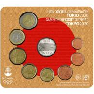 Slowakei Kursmünzensatz 2020 Stgl. im Folder  Olympische Spiele in Tokio