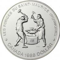 Kanada 1 Dollar 1988 Silber    Eisenschmiede