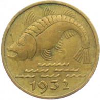 D 13 -  Danzig 10 Pfennig 1932  Pomuchel  (Dorsch)