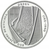 Deutschland 10 DM Silber 1990 Stgl. 800 Jahre Deutscher Orden