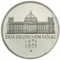 BRD 5 DM 1971 - 100 Jahre Reichsgründung - Gedenkmünze Reichstag