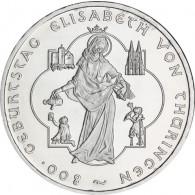Silbermünze 10 Euro 2007 Elisabeth von Thüringen