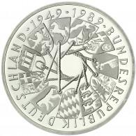 Deutschland 10 DM Silber 1989 Stgl. 40 Jahre Bundesrepublik Deutschland