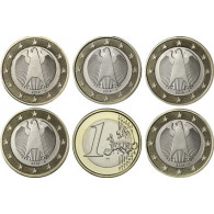 Deutschland 5 x 1 Euro 2014 Mzz A -J