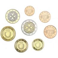 Malta 2018 Kursmünzen 1 Cent bis 2 Euro 2018 lose mit Mzz. 'F'