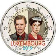 2 Euro Sammlermünzen mit Farbdesign Luxemburg 2 Euro 2019 Großherzogin Charlotte in Farbe bestellen