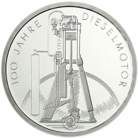 Deutschland 10 DM Silber 1997 Stgl. Rudolf Diesel & Erfindung des Dieselmotor