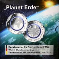 Sammelfolder BRD Planet Erde 2016 Zubehör für Ihre Münzsammlung