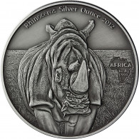 Kongo 1 Oz Silber 2012 Nashorn Münze