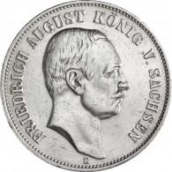 Jäger 136 Sachsen 5 Mark 1907 - 1914 Sehr Schön Friedrich August I