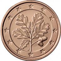 Kursmünzen 2 Euro-Cent Deutschland 2015 in Stempelglanz mit Eichenzweig