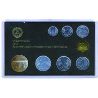 DDR Kurssatz 1 Pfennig bis 5 Mark 1986 Sanssouci