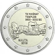 2 Euro Sondermünze Malta 2019  Ta' Hagrat - Serie Prähistorische Stätten Maltas