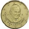 Kursmünzen Vatikan 20 Cent 2007 Stgl. Papst Benedikt XVI.