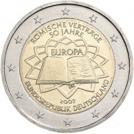 Deutschland 2 Euro 2007 bfr. Römische Verträge Mzz. D
