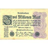 Reichsbanknote 2 Millionen Mark von 1923