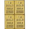 Goldbarren 4 Gramm Gold Tafelbarren