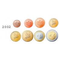 Monaco 1 Cent - 2 Euro 2002 bfr. lose im Münzstreifen